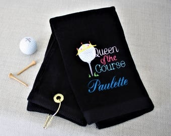 Queen of the Course Golf Towel