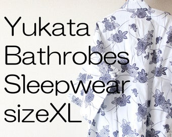 Yukata Bathrobes Sleepwear sizeXL