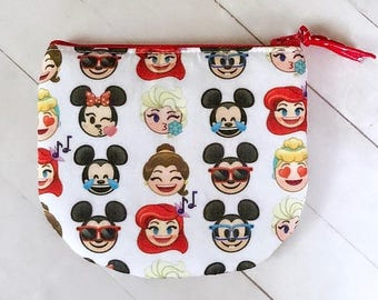 SUMMER SALE Disney emojis zipper pouch coin purse credit card pouch
