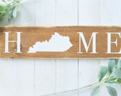 Home Wood Sign, Home Deco...