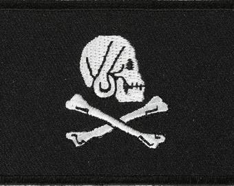 Pirate and Skull Flag Patch - 3 x 2 inch Free Shipping Pirate P5528