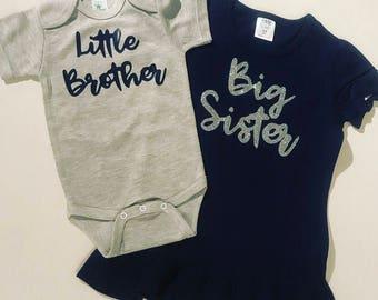 Big sister shirt   Sibling shirts   Big Sister Little brother shirts   Pregancy announcement  