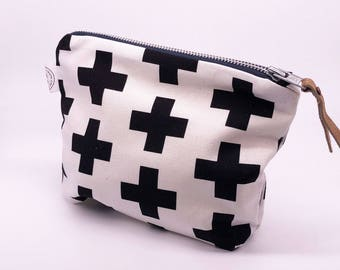 Scandinavian Fabric Makeup Bag, Travel Bag, Toiletry Bag, handmade, Soft Cotton