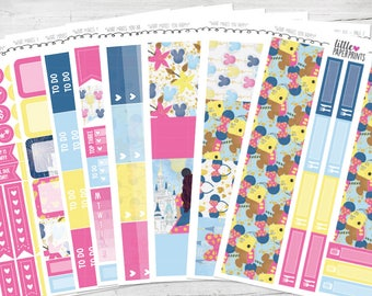 """FULL KIT   """"What Makes You Happy"""" Glossy Kit   8 Pages, 225+ Stickers"""