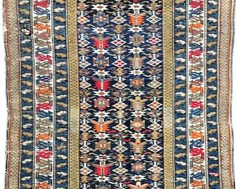Antique Caucasian Chi-Chi Rug 1.62m x 1.07m