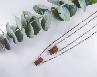 Boho Double Wood Necklace
