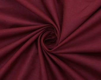 "Maroon Cotton Fabric, Indian Decor, Dress Fabric, Ethnic Fabric, Sewing Crafts, 42"" Inch Cotton Fabric By The Yard PZBC9V"