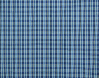 "Apparel Fabric, Check Print, Decor Fabric, Blue Fabric, Sewing Crafts, 57"" Inch Cotton Fabric By The Yard ZBC9060A"