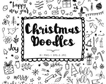 Clip art Christmas doodles, christmas, drawings, doodles, new year, happy new year, clipart doodles, Christmas, holiday, Christmas vectors