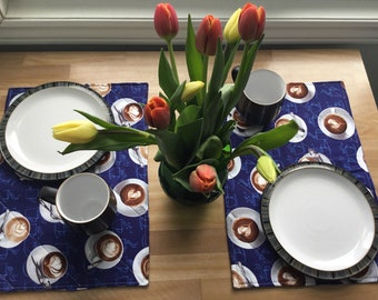 Placemats - cappuccino, lattes and polka dots