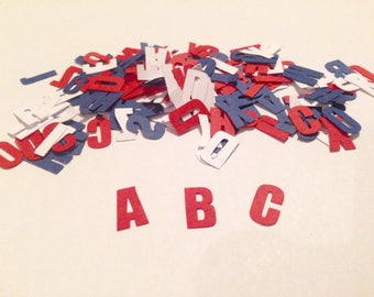 Letters Confetti, Letters die cuts, Party Decoration, Babyshower, Birthday Party, ABC confetti