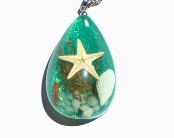 Starfish Necklace - Seashell Necklace - Beach inspired jewelry - Ocean Inspired Jewelry  - Starfish Jewelry - Seashell Jewelry
