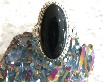Black Onyx Ring Size 9