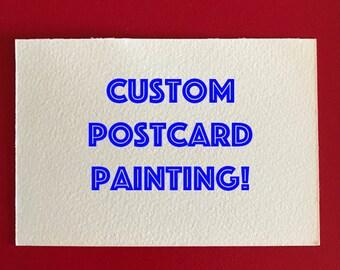Custom 4x6 Postcard Painting Drawing Gift