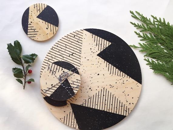 MEMPHIS wood trivet / giant coaster