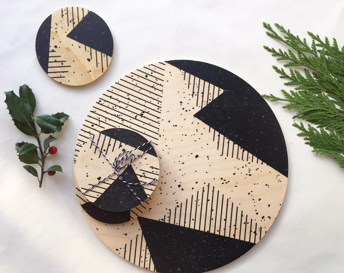 MEMPHIS wood trivet / giant coaster