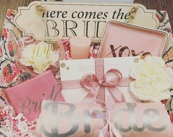 Medium Bride to Be Bridal Engagement Gift Basket Present, Bride Gift, Bridal Gift Basket, Future Mrs. Gift