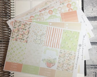 Spring - DELUXE Weekly Sticker Kit, Planner Stickers, No White Space Planner Sticker Kit, for use with EC LIFEPLANNER™