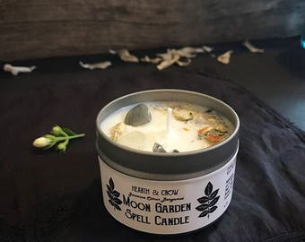Moon Garden Soy Candle | Spell Candle | Altar Candle | Moon Phases