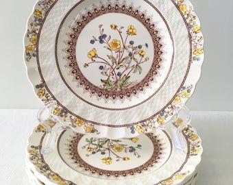 "1 Copeland Spode England ""Buttercup"" Salad Plate (Old Backstamp)"