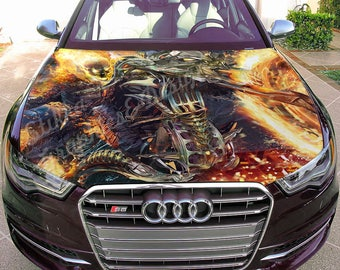 Vinyl Car Hood Full Color Graphics Decal X-Men Ghost Rider Sticker