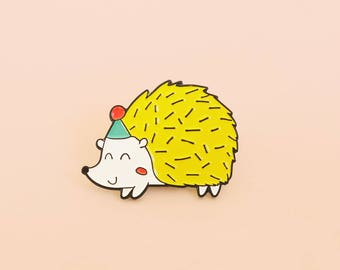 B GRADE- Party Hedgehog Soft enamel pin | Lapel pin | Hedgehog Brooch