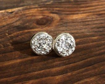 Silver Druzy - Silver Settings