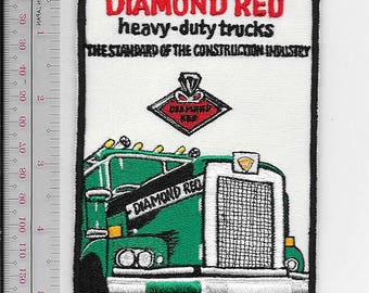 Vintage Truck Automotive Manufacturer Diamond Reo Heavy Duty Trucks Promo Patch green