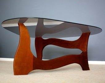 Rare Stylish Mid Century Teak Coffee Table Retro Vintage Scandi Style 50s 60s 70s