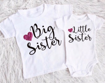 Big sister little sister outfits  little sister shirt big sister bodysuit big sister shirt shirts for girls new baby girl