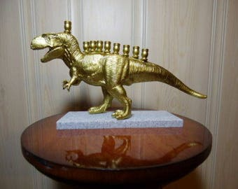 Hannukkah Menorah Candle Holder Statue Figure- The MENOSAURUS REX!