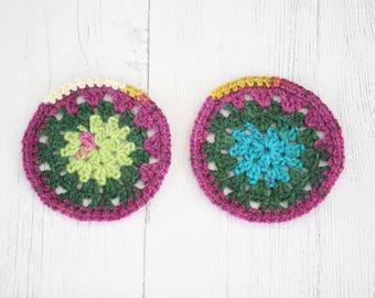 Two Crochet Coasters