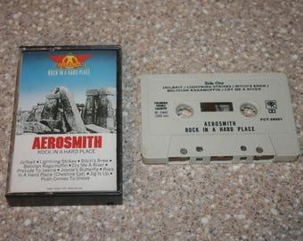 Aerosmith Rock in a Hard Place Cassette Tape