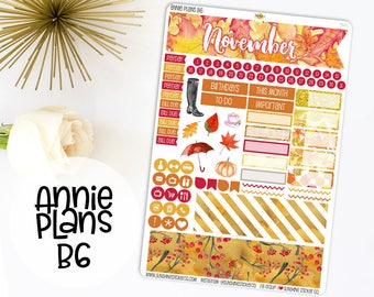 Annie Plans B6 Size Monthly Kit | You pick the month! 762L