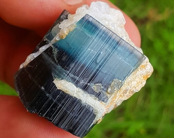 WOW 122 Carat Beautiful Blue Color Tourmaline Crystal Specimen@Afghanistan
