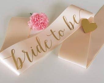 Custom Sash - Bride to be, Bridesmaid, Maid of Honour