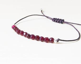 Garnet bracelet, garnet bracelets, garnets bracelet, january birthstone, beaded natural garnet gemstone, garnet beads bracelet, garnet stone