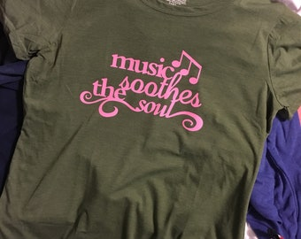 Music Soothes the Soul tee