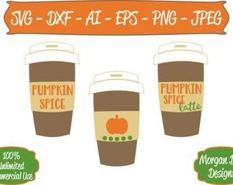 Pumpkin Spice SVG - Coffee Cup SVG - Fall SVG - Files for Silhouette Studio/Cricut Design Space