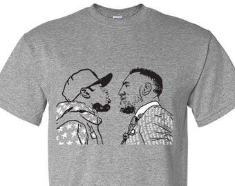 Mayweather vs McGregor Face Off Fight Night T-Shirt (Floyd Mayweather vs Conor Mcgregor) MMA UFC Boxing Fight T-Shirt