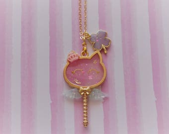 Cat Wand Necklace