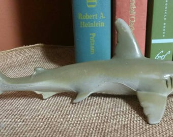 Hammerhead Shark PVC Vinyl Toy/1991 Monterey Bay Aquarium Souvenir/Mini Hammerhead Shark/Upcycle Toy/Collectible/Childs Gift/Cake Top
