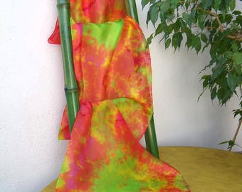 """Totally!"" hand painted silk shawl"