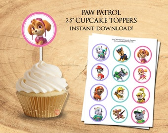 PAW PATROL CUPCAKE Toppers - Instant Download