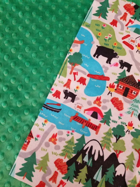 Camping, Weighted, Lap Pad/Small Blanket/Travel Weighted Blanket, 3 pounds,  14.5x22, Autism, SPD, PTSD, School Pad, Small Weighted Blanket