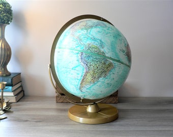Vintage Replogle 12 Inch Globe - World Ocean Series