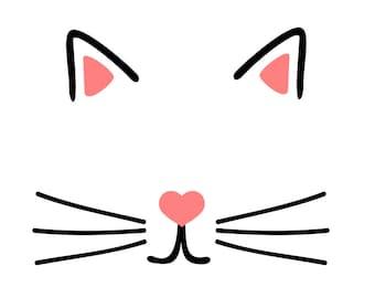 Cat face - svg, pdf, png file