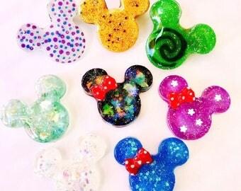 Glitter Mickey   Glitter Minnie   Mickey Pin   Minnie Pin   Disney Badge   Disney Magnet   Disney Badge Reel   Disney Pin   Disney Brooch