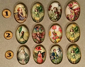 Fairies, Refrigerator Magnet, Fridge Magnet, Kitchen Magnet, Fairy Theme, Fantasy, Kitchen Decor, Fairy Magnet, Gift Magnet, Handmade