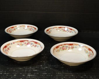 FOUR Homer Laughlin Eggshell Georgian Belmont Berry Bowls Set of 4 EXCELLENT